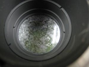 カメラのレンズにかび